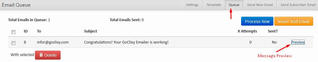 Email Queue