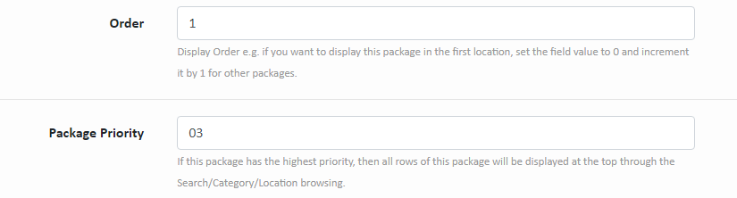 Package Priorities