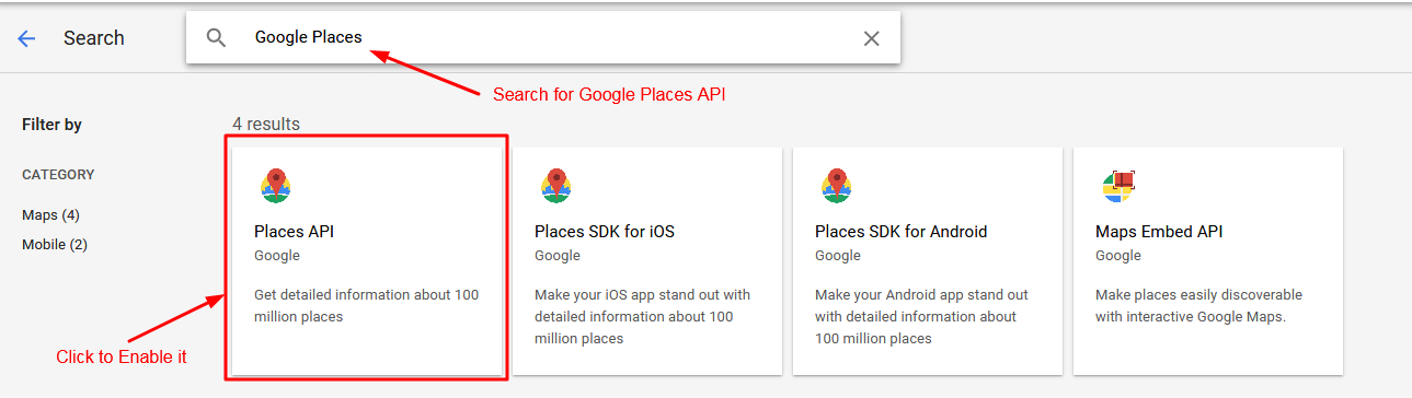 Search and Enable