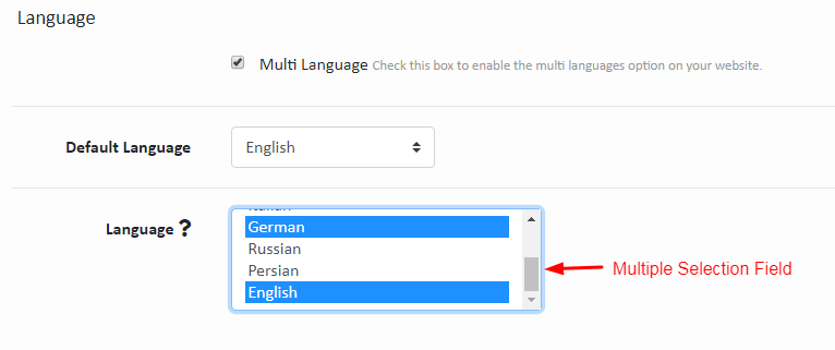 Mult Language Settings
